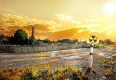 Förorenat område — Stockfoto
