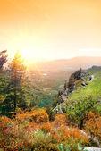 Berg demerdji in de herfst — Stockfoto