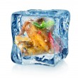 Chicken wings in ice cube — Stock Photo #31492679