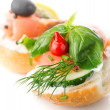 Stock Photo: Sandwich with red fish