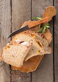 Bread on a cutting board — Stock Photo