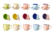 Multi-colored cups — 图库照片