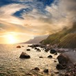 Scenic sunset at Black Sea — Stock Photo