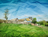 Rural summer landscape — Stockfoto