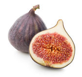 Juicy figs with leaf — Stock Photo