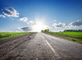 Highway and sunlight — Stock Photo