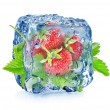 Strawberry in ice — Stock Photo #45278731