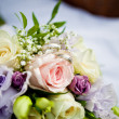 Stock Photo: Bouquet with rings
