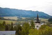 Rural church tower — Stock Photo