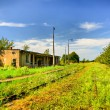 Abandoned railway station — Stock Photo