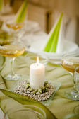 Wedding candle — Stock Photo