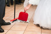 Wedding sweep up — Stock Photo