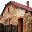 Stock Photo: Traditional brick-stone house