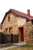 Traditional brick-stone house — Stock Photo
