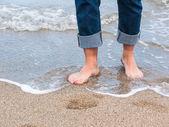Closeup of man feets — Zdjęcie stockowe