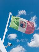 Waving Italian flag — Stock Photo