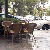 Café på gatan — Stockfoto