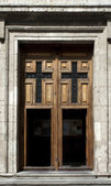 Old door of church — Stock Photo