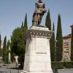Cervantes monument — Stock Photo