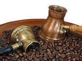 アラブの銅のコーヒー鍋 — ストック写真