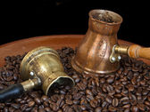Arab copper coffee pots — Foto Stock