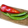 Red and green peppers — Stock Photo #17595435