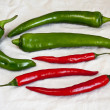 Greeen and red pepper chili — Stock Photo