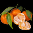 Mandarins on black — Stock Photo #18637609