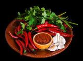 Hot sauce Adjika — Stock Photo