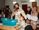 Ceremonia de bautizo ortodoxo — Foto de Stock