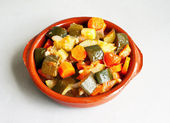 Stewed vegetables — Stock Photo