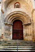 Wooden door of old church — Stock Photo