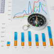 Navigation in economics and finance - Stock Photo