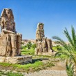Colossi of Memnon, Valley of Kings, Luxor, Egypt - Stock Photo