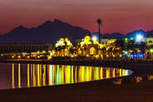 Quay resort of Hurghada at night — Stock Photo