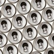 Metal beer cans — Stock Photo