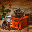 Grinder and other accessories for the coffee — Stock Photo #13785119