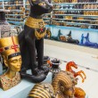 Showcase in the shop with Egyptian souvenirs — Stock Photo