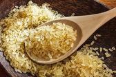 水稻对用木勺板 — 图库照片