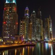 Nightlife in Dubai Marina. UAE. November 14, 2012 - Stock Photo