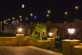 Quay resort of Hurghada at night — Stock Photo