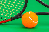 Winning tennis tournaments — Stock Photo