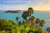 Cape is a mountain of rock in Phuket, Thailand — Stock Photo