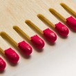 Set of red matches close up — Stock Photo #23729875