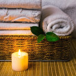 Royalty-Free Stock Photo: Spa with towels and candle