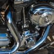 Stock Photo: Shiny nickel plated metal mechanism motorcycle