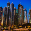 Stock Photo: Nightlife in Dubai Marina. UAE. November 16, 2012