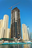 Construction of skyscrapers in Dubai UAE — Stock Photo