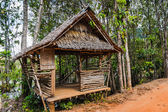 Hut on the road in the jungle on the Phuket in Thailand — Stock Photo