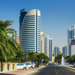 Stock Photo: High rise buildings and streets in Dubai, UAE